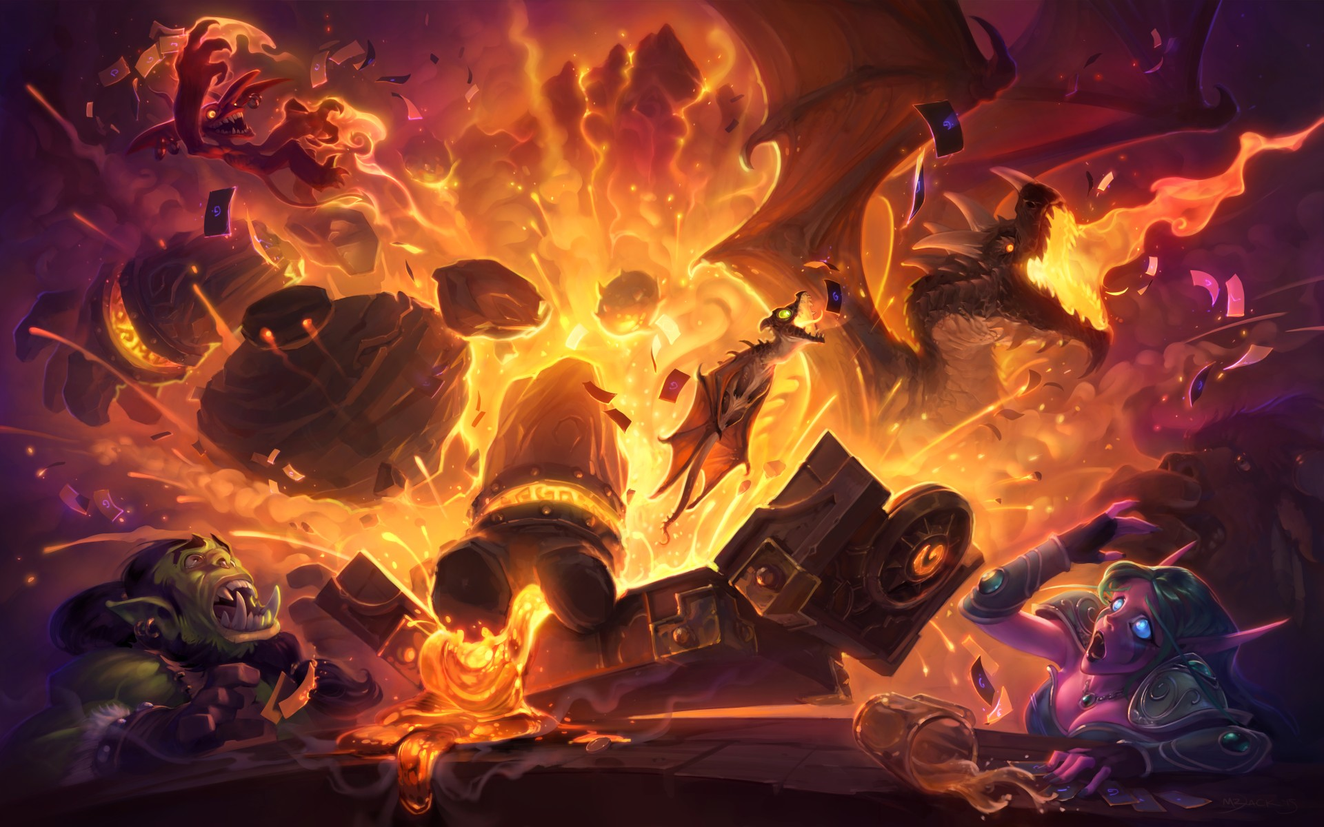hearthstone blackrock mountain keyart