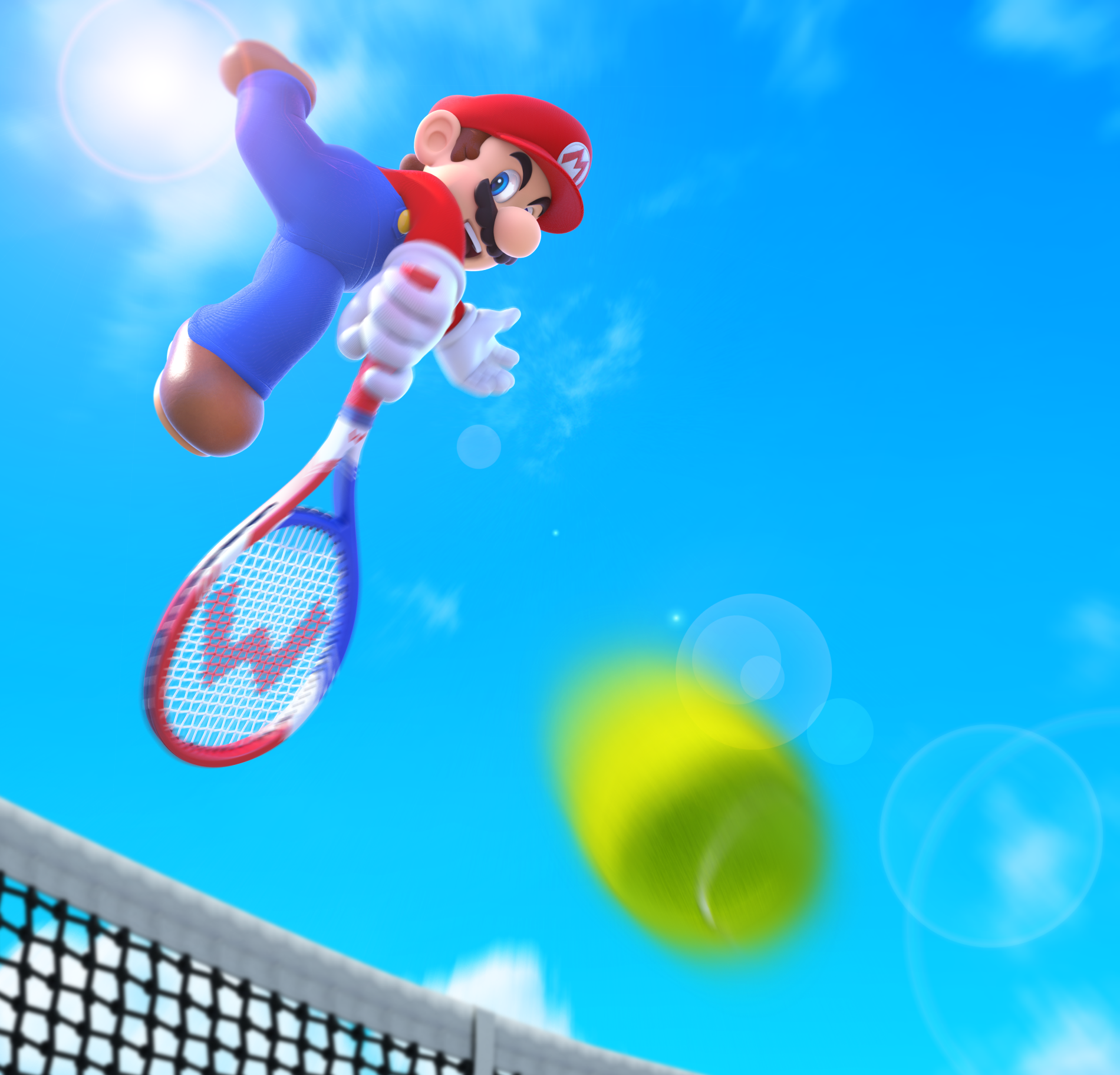 mario tennis ultra smash keyart